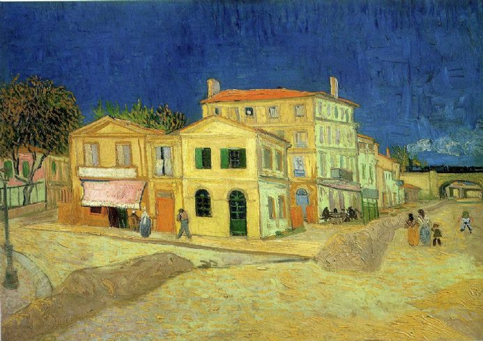 Van Gogh, Vincent: The Yellow House, 1888. Fine Art Print/Poster. Sizes: A4/A3/A2/A1 (001773)
